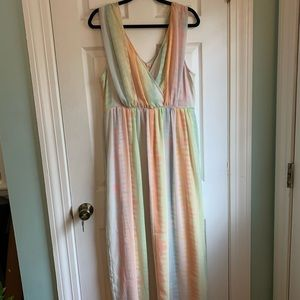 Tie Dye Maxi Dress from Anthropologie